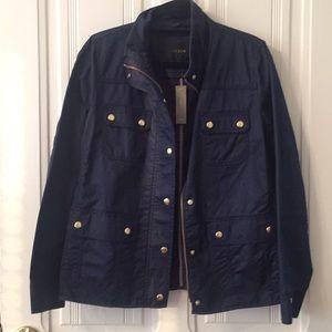 J. Crew Navy rain jacket - NWT - size M